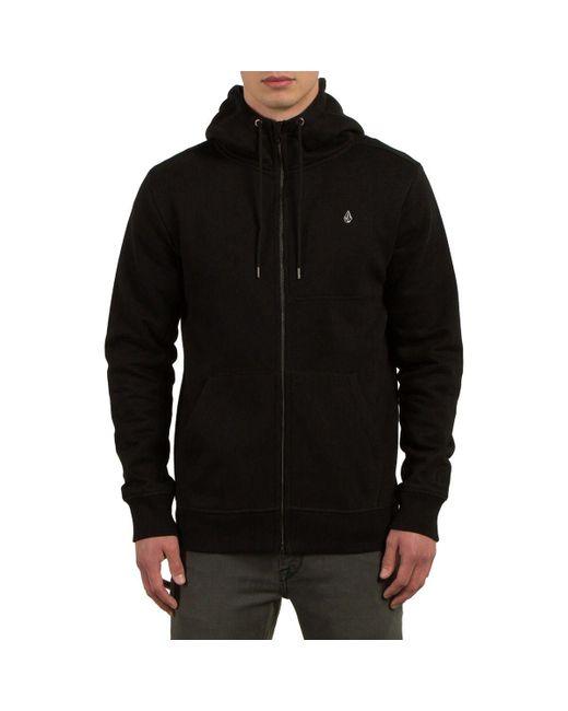 Volcom - Black Single Stone Full-zip Hoodie for Men - Lyst