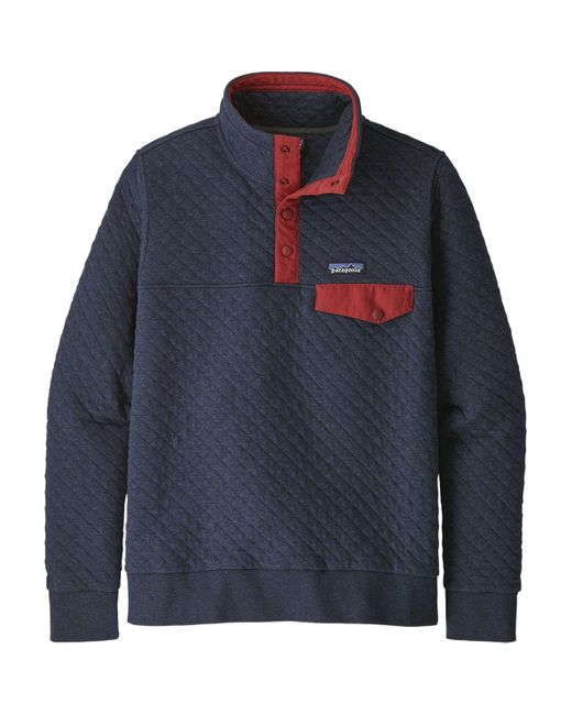Patagonia Organic Cotton Quilt Snap T Pullover New Navy W