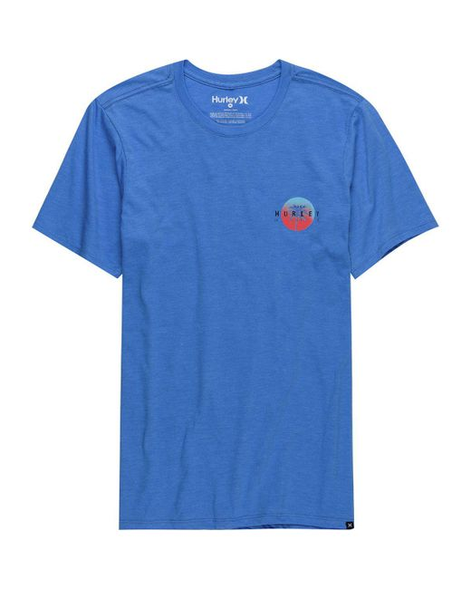 Hurley - Blue Sun Is Down Short-sleeve T-shirt for Men - Lyst