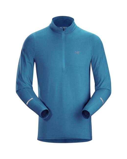 Arc'teryx - Blue Cormac Zip-neck Shirt for Men - Lyst