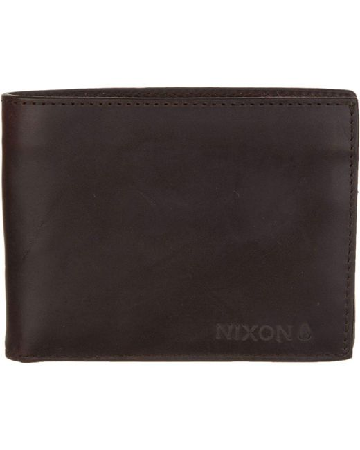 Nixon - Brown Legacy Wallet for Men - Lyst