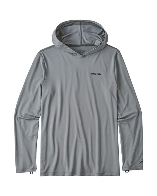 Patagonia - Gray R0 Sun Long-sleeve Hooded Shirt for Men - Lyst