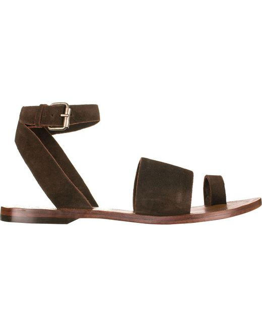 Free People - Brown Torrence Flat Sandal By Fp Collection - Lyst