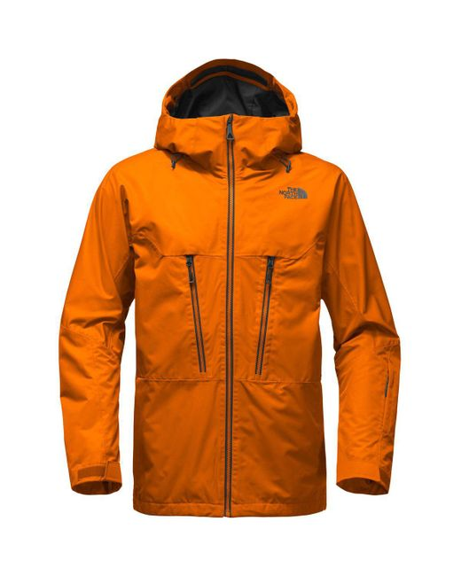 The North Face | Orange Thermoball Snow Triclimate Hooded Jacket for Men | Lyst