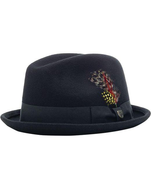 Brixton - Black Gain Felt Hat for Men - Lyst