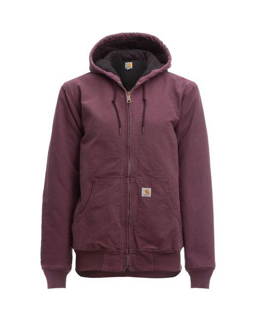 Carhartt - Purple Sandstone Active Hooded Jacket - Lyst