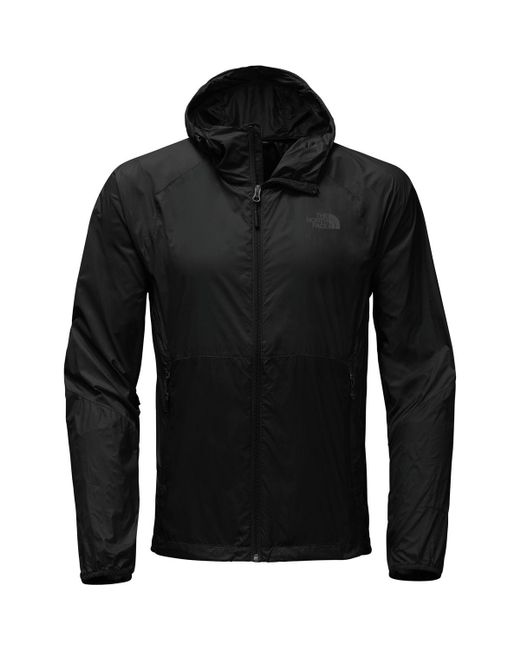 The North Face - Black Flyweight Hooded Jacket for Men - Lyst