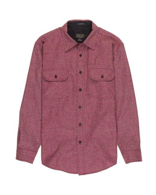 Pendleton - Red Maverick Merino Shirt for Men - Lyst