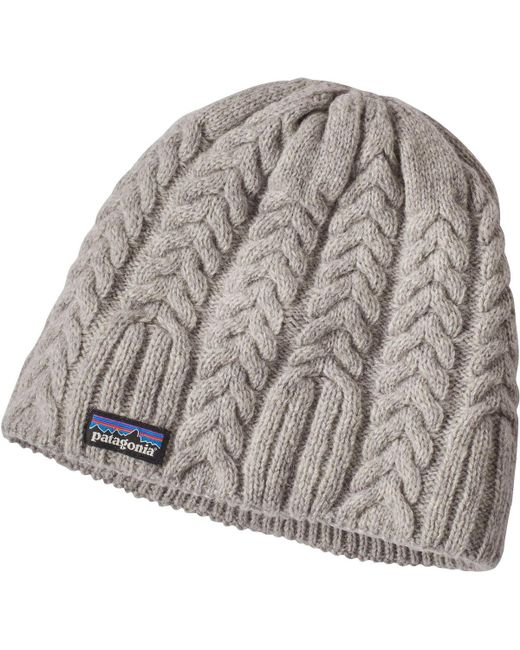 Patagonia - Gray Cable Beanie - Lyst