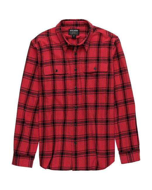 Filson - Red Scout Shirt for Men - Lyst