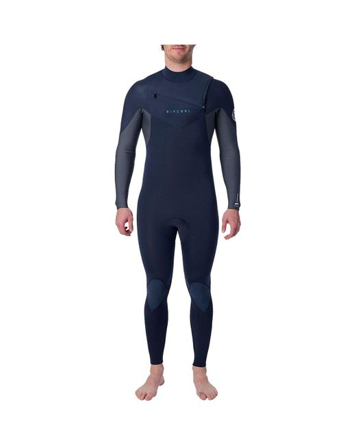 Rip Curl Blue Dawn Patrol 3/2 Chest-zip Wetsuit for men