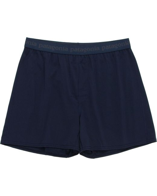 Patagonia - Blue Capilene Daily Boxers for Men - Lyst