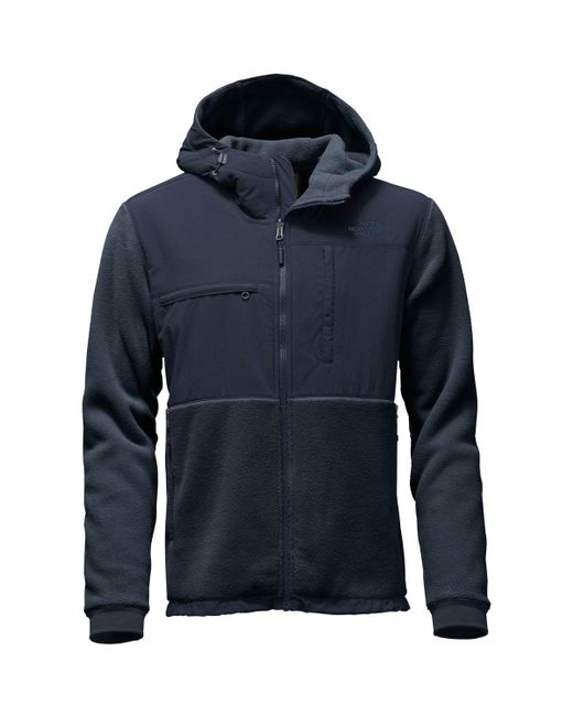 The North Face - Blue Denali 2 Hooded Fleece Jacket for Men - Lyst