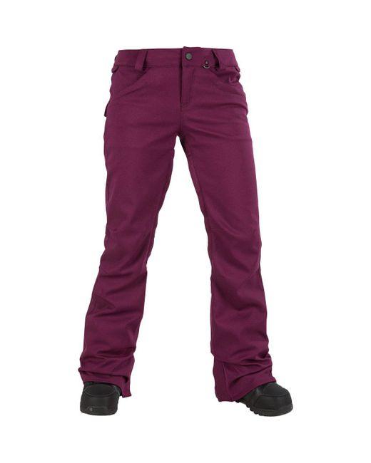 Volcom - Purple Species Stretch Pant - Lyst