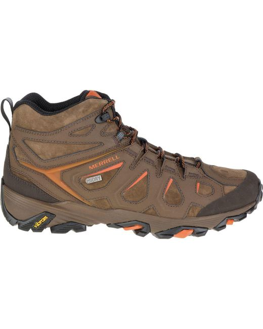 Merrell | Brown Moab Fst Leather Mid Waterproof Hiking Boot for Men | Lyst