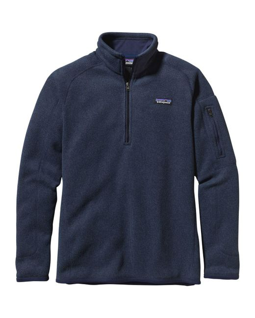 Patagonia - Blue Better Sweater 1/4-zip Fleece Jacket - Lyst