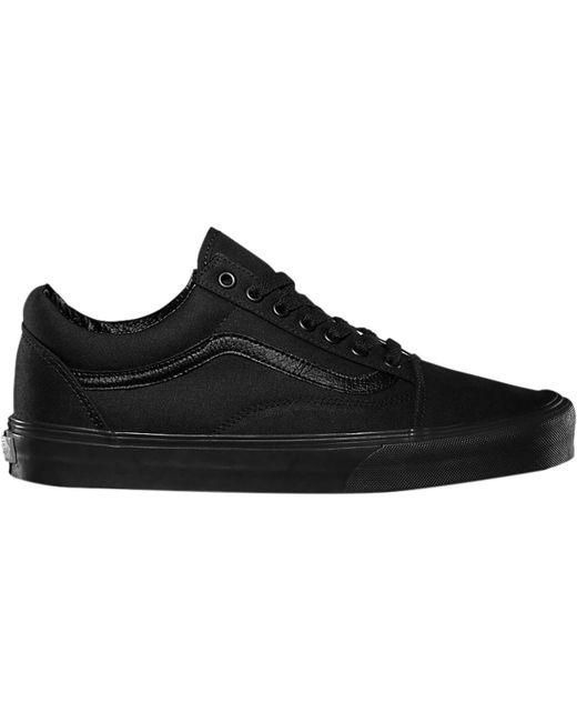 Vans Rubber Old Skool Shoe In Black Black Black For Men