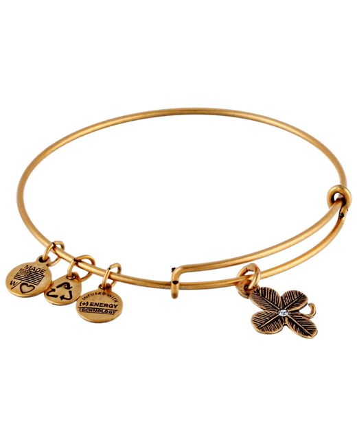 ALEX AND ANI | Metallic Lucky Clover Charm Bangle | Lyst