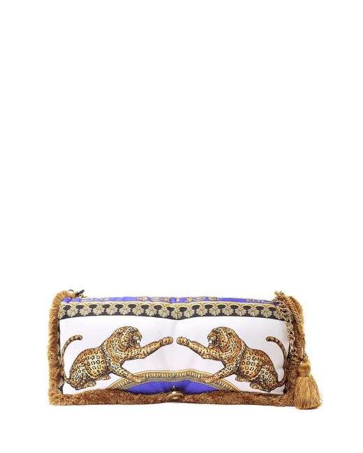 01f5f3444e Versace - Multicolor Pillow Talk Signature Dea-print Silk Shoulder Bag -  Lyst ...