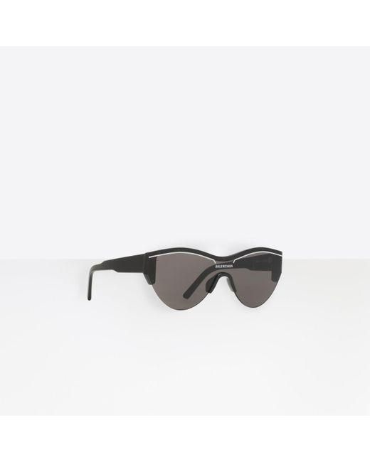 670f1e1db0b Balenciaga - Black Ski Cat Sunglasses - Lyst ...