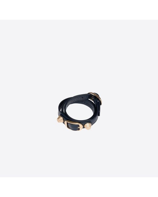 Balenciaga | Blue Giant Gold Bracelet Triple Tour | Lyst
