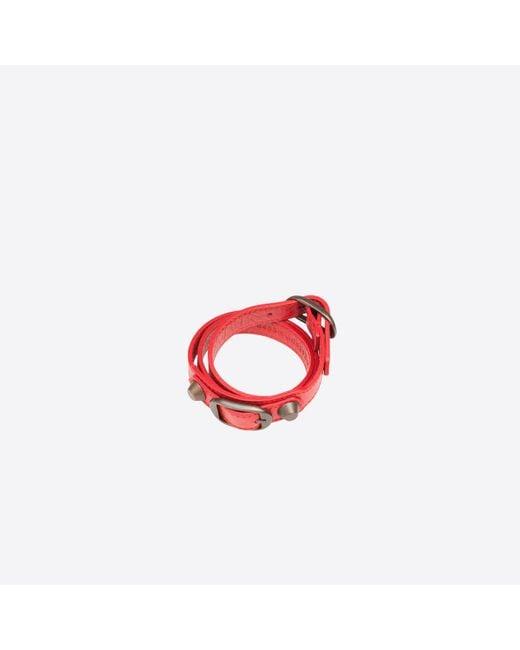 Balenciaga | Red Classic Bracelet Triple Tour | Lyst