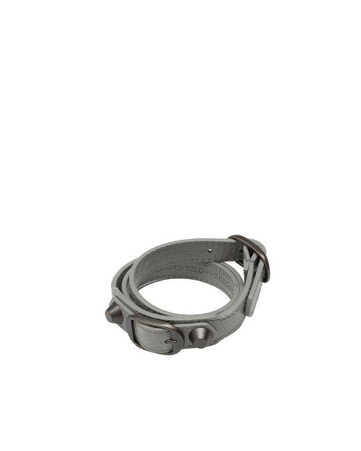Balenciaga   Gray Classic Bracelet Triple Tour   Lyst