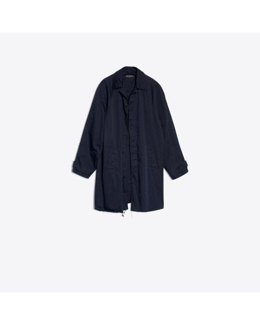Balenciaga - Blue Washed Carcoat for Men - Lyst