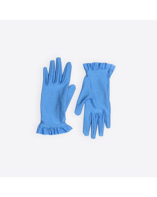 Balenciaga - Blue Ruffles Gloves - Lyst