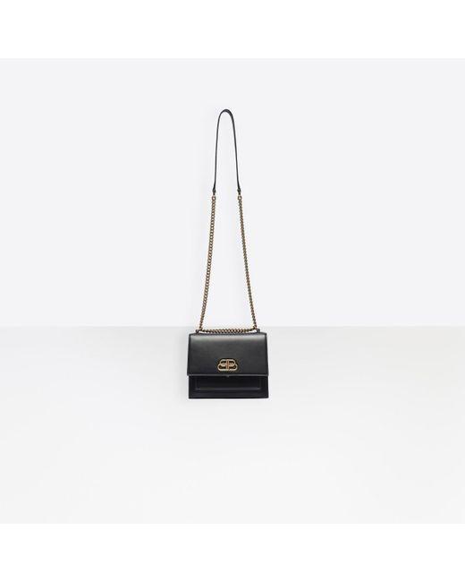 47159962b6 ... Balenciaga - Black Sharp S Satchel Chain - Lyst ...