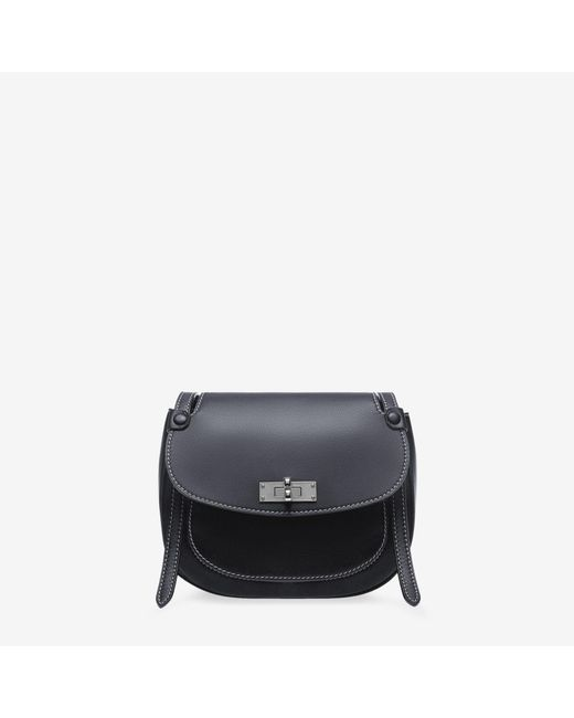 Bally - Blue B Turn Saddle Bag Medium - Lyst
