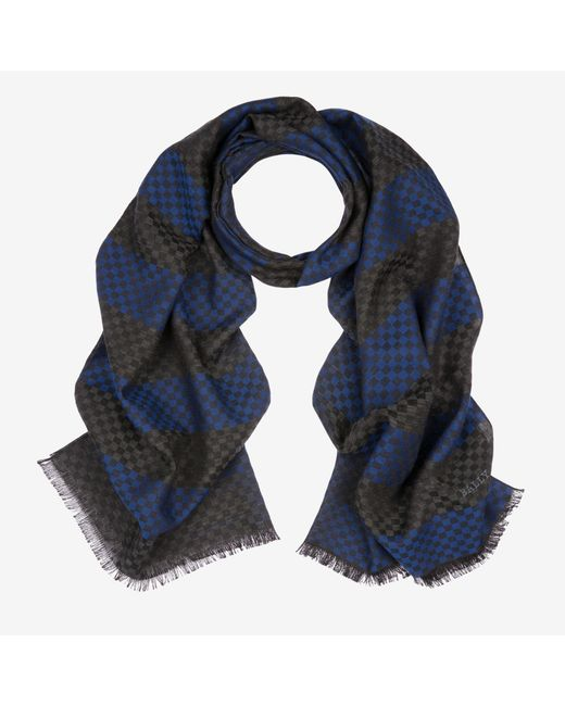 Bally - Blue Woven Check Scarf for Men - Lyst