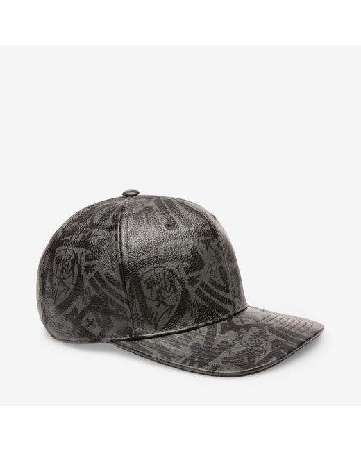 Bally - Black Graffiti Print Baseball Cap for Men - Lyst