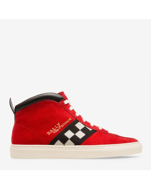 Bally - Red Vita-parcours Hi-top Sneakers for Men - Lyst