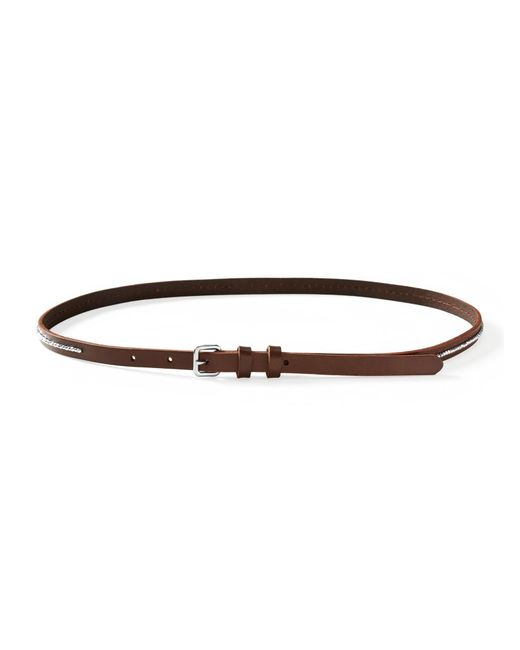 Banana republic Beaded-center Skinny Leather Belt in Brown - Save 50% ...
