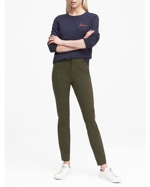 Banana Republic - Green Petite Sloan Skinny-fit Brushed Bi-stretch Ankle Pant - Lyst