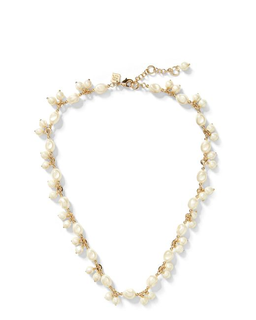 Banana Republic - Metallic Soft Pearl Necklace - Lyst