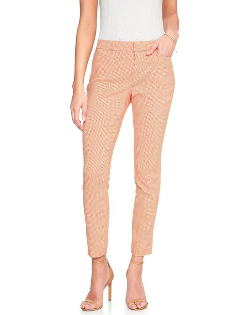 Banana Republic Factory - Orange Sloan Curvy Geo Dot Jacquard Slim Ankle Pant - Lyst