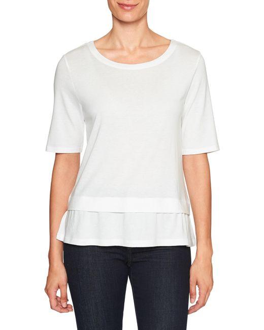 Banana Republic Factory - White Ruffle Hem Designer T Shirt - Lyst