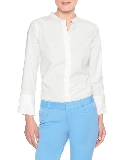 Banana Republic Factory - White Tailored Pleated Cuff Shirt - Lyst
