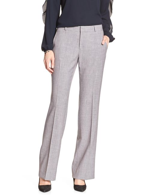 Banana Republic Factory - Gray Petite Machine Washable Logan Light Grey Tailored Trouser - Lyst