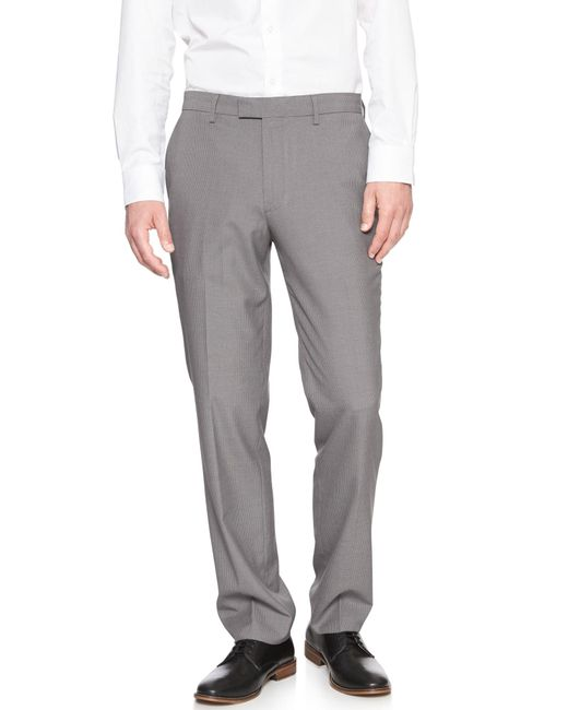 Banana Republic Factory - Gray Standard-fit Geo Pattern Dress Pant for Men - Lyst