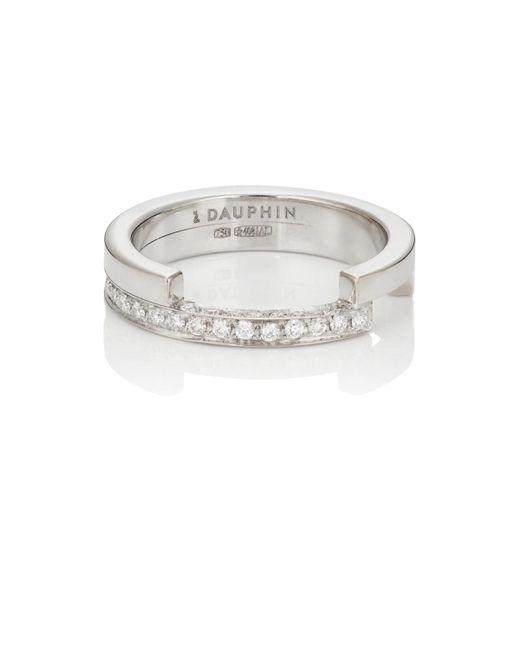 Dauphin - Metallic White Diamond Ring - Lyst