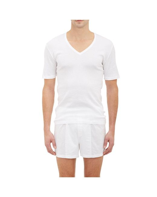 Hanro | White Pure T for Men | Lyst