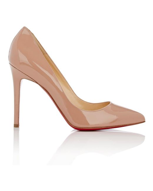 Christian Louboutin | Natural Pigalle Follies Pointed-Toe Patent Leather Pumps | Lyst