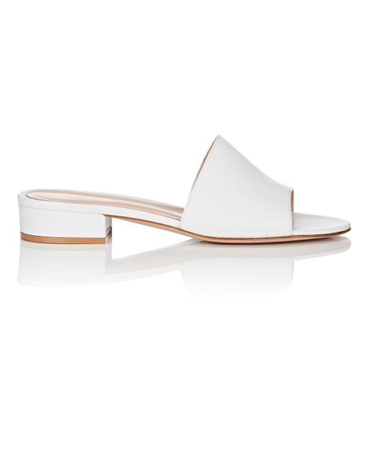 Gianvito Rossi - White Capri Leather Slide Sandals - Lyst
