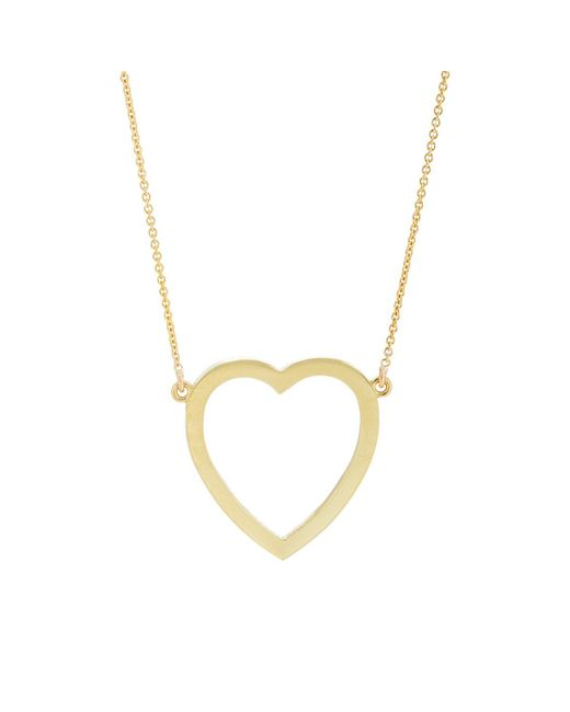 Jennifer Meyer - Metallic Large Open Heart Pendant Necklace - Lyst
