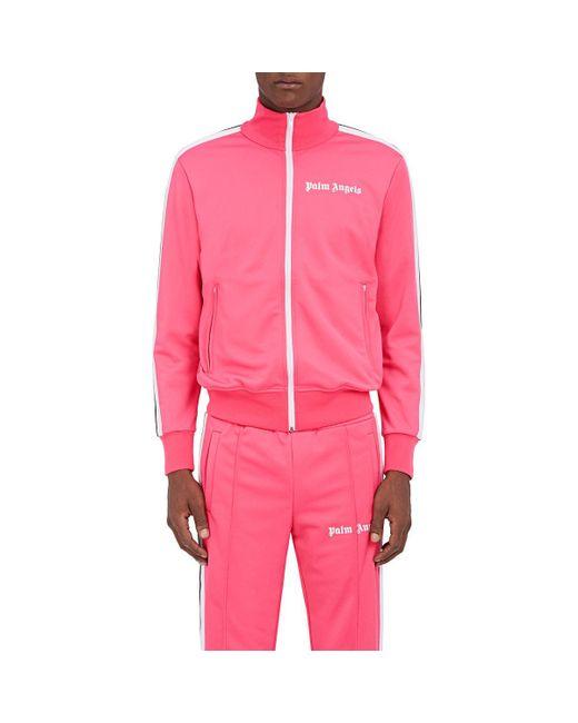 Palm Angels - Pink Striped Logo Tech - Lyst