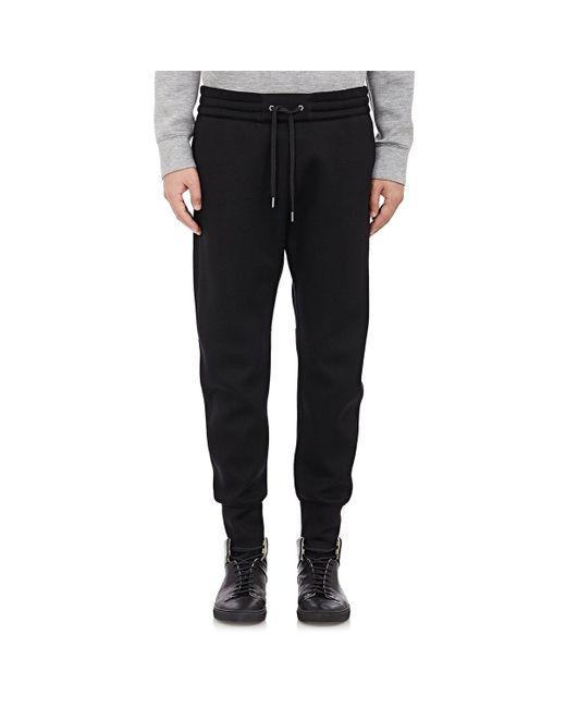 Helmut Lang - Black Neoprene Track Pants for Men - Lyst