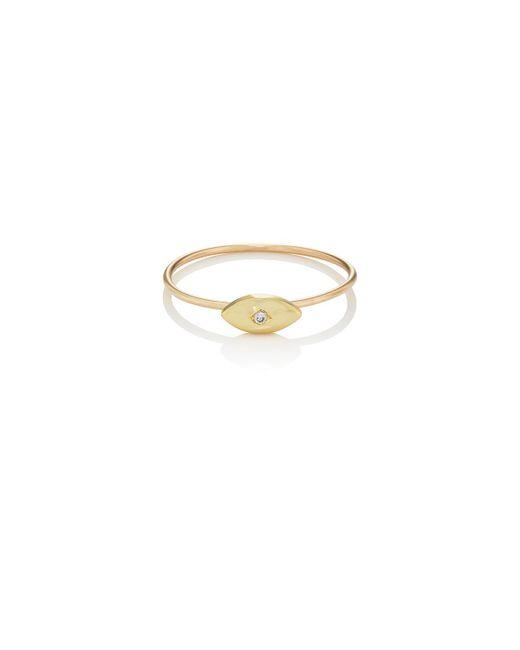 Jennifer Meyer   Metallic Mini Evil Eye Ring   Lyst